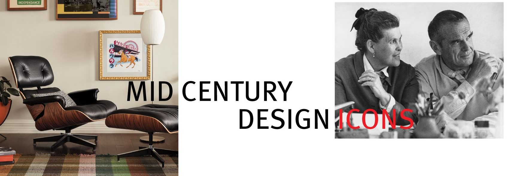 Mid Century design icons Charles and Ray Eames