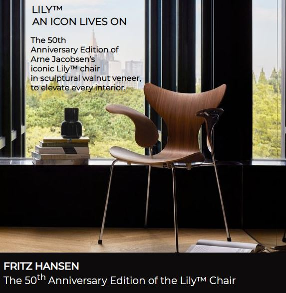 Lily Chair designed by Arne Jacobsen for Fritz Hansen