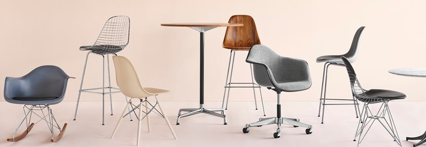 Eames Shell Chairs by Herman Miller