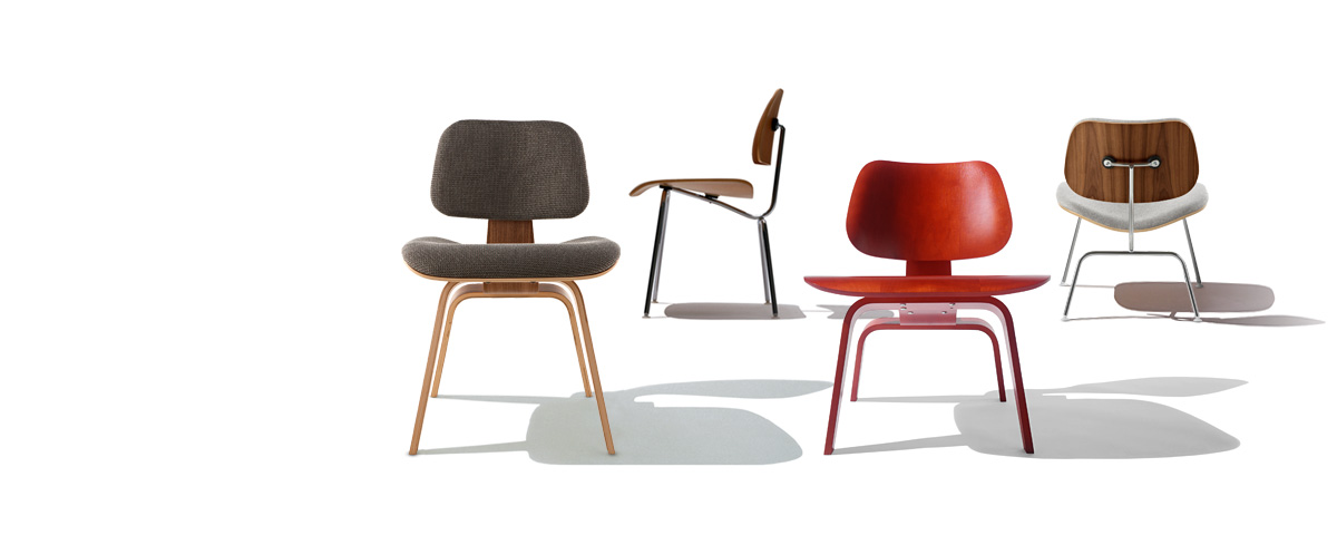 Eames Moulded plywood chairs by Charles and Ray Eames