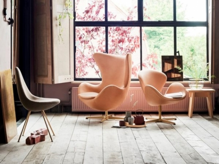 Fritz Hansen 60th Anniversary special edition Swan, Egg and Drop chairs. Fritz Hansen designed by Arne Jacobsen. Fritz Hansen Canberra.