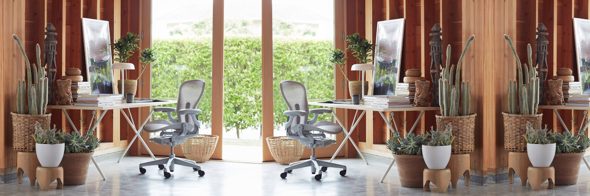Herman Miller Home Office, Aeron chair, Nelson X-leg table