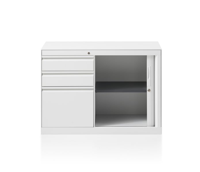 CK8 Tambour door return cabinet by Herman Miller
