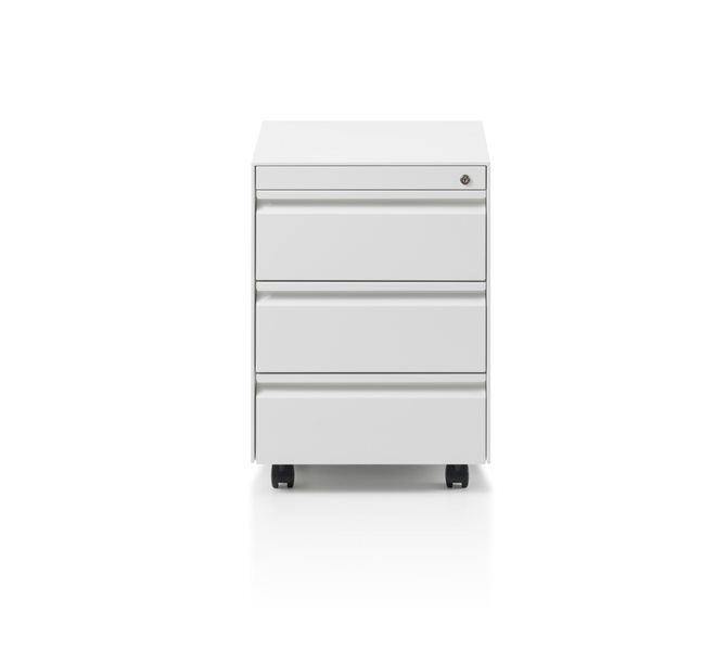 CK8 3 Drawer, low mobile pedestal by Herman Miller
