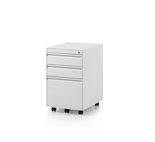 CK8 3 Drawer, regular mobile pedestal by Herman Miller