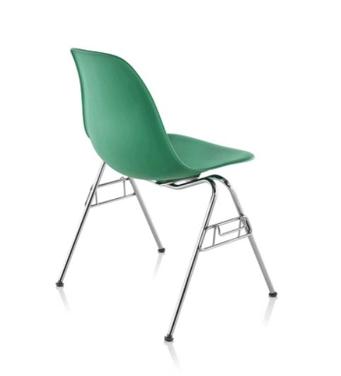 Eames Moulded Stacking Chair, Eames Plastic stacking chair, Eames Plastic Ganging Chair