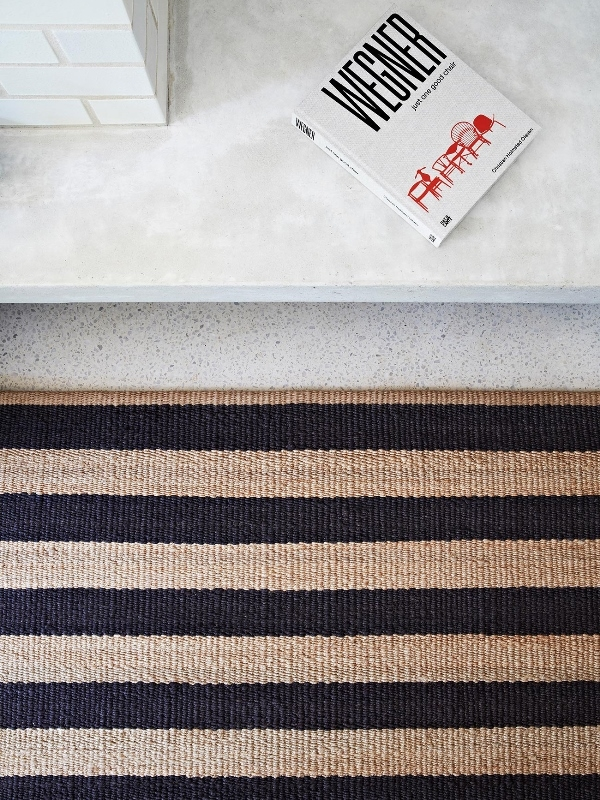 Armadillo & Co Nest weave, Earth collection by Armadillo, Awning Strip rug, Armadillo rug
