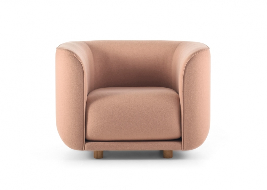 Fat Tulip arm chair designed by Adam Goodrum, Nau fat tulip arm chair