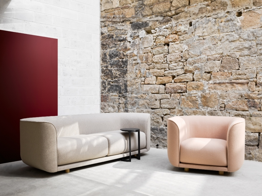 Fat Tulip Sofa designed by Adam Goodrum, Nau fat tulip sofa