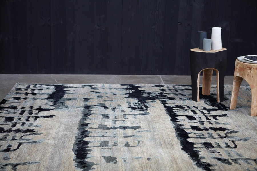 Etched rug designed by Hare+Klein, Designer Rugs collaboration with Hare + Klein, Hare + Klein rugs