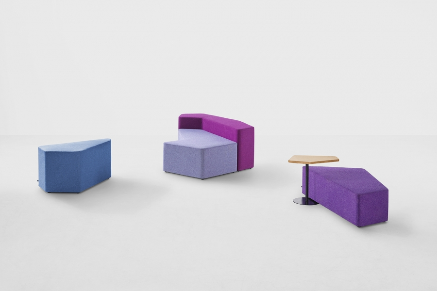 Iceberg seating system designed by Alexander Lotersztain, Iceberg seating by Derlot Edition