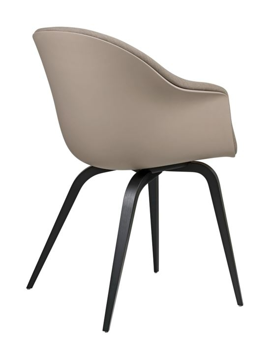 Bat dining chair GUBI designed by GamFratesi, Bat dining chair on wooden base designed by GamFratesi, Gubi dining chair designed by GamFratesi