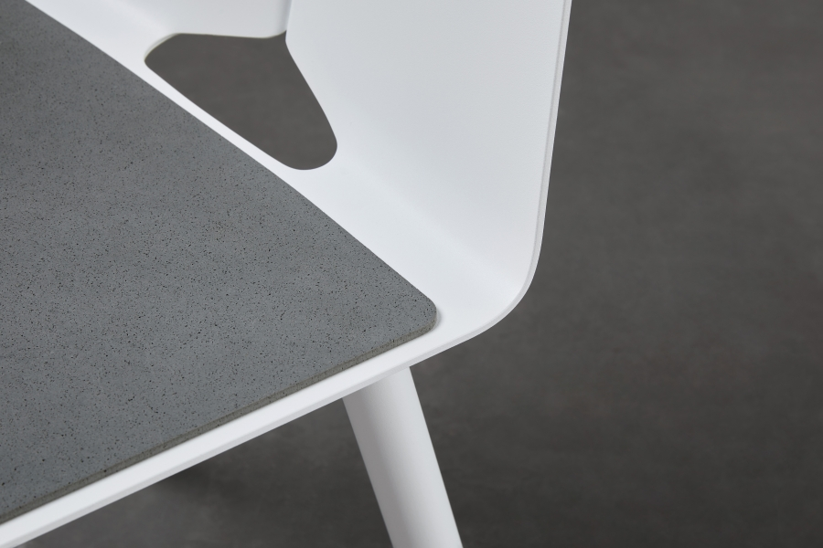 Seam chair designed by Adam Cornish, Tait Seam chair with seat pad, Seat pad for Seam dining chair