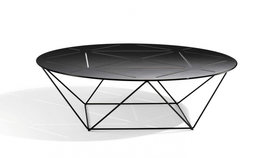 Joco side table designed by EOOS for Walter Knoll, Walter Knoll joco coffee table, Walter Knoll side table with laser cut details