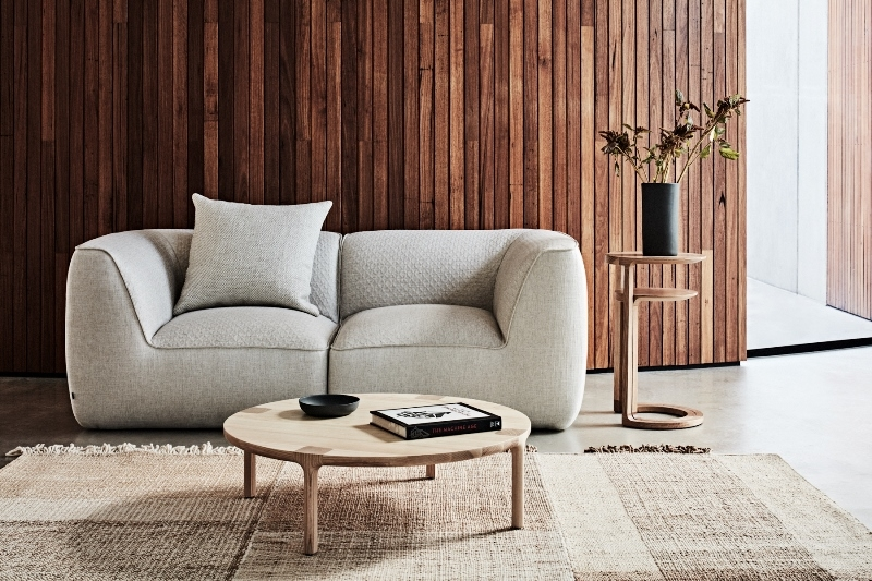 NAU 2019, Sofala sofa, Molly coffee table, Nest tables