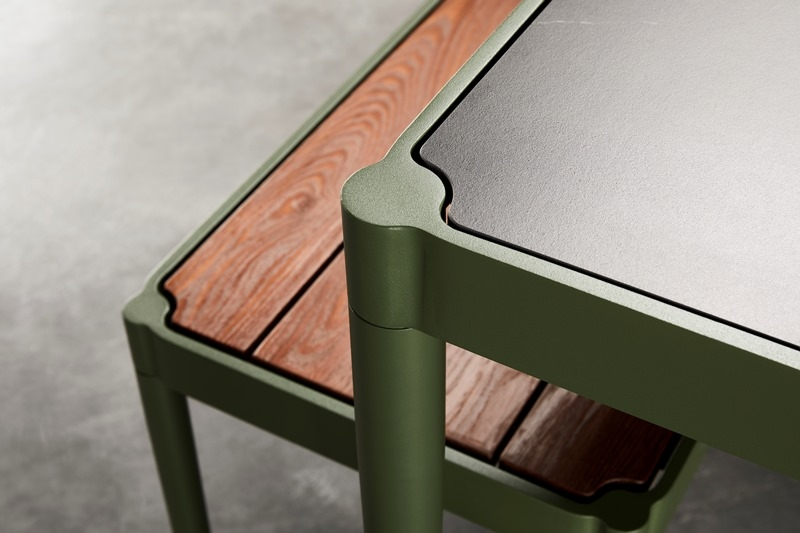 Trace Dining Table designed by Adam Goodrum for Tait, Tait Trace dining setting by Adam Goodrum