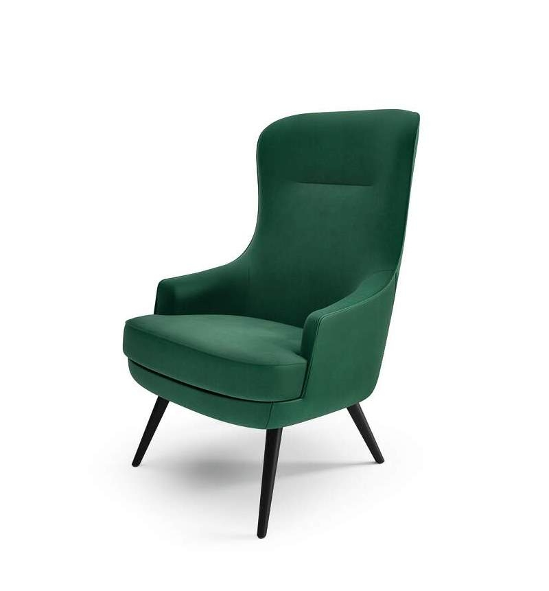 375 Relax chair Walter Knoll, 375 Lounge Chair with high back Walter Knoll