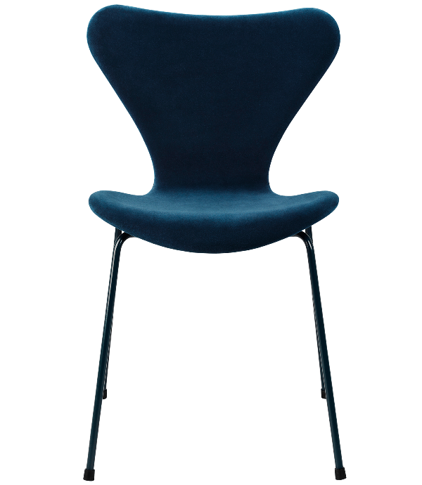 Series 7 Limited edition Velvet upholstered Arne Jacobsen Fritz Hansen