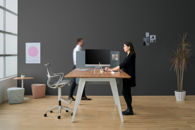 Optimis Extended-height Table with End-panel