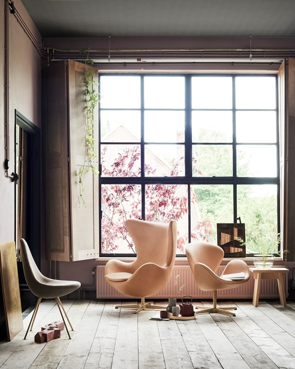 Fritz Hansen 60th Anniversary special edition Swan, Egg and Drop chairs. Fritz Hansen desgined by Arne Jacobsen.