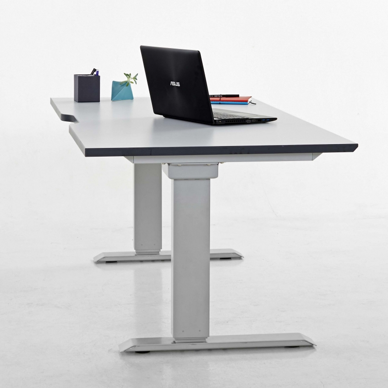 Elevar Electric Desk, commercial workstation desk from designcraft