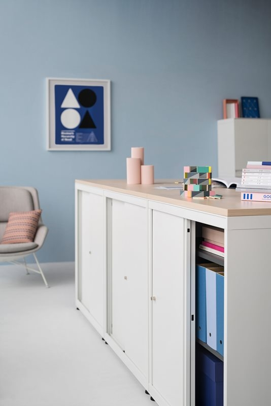 CK8 sliding door cabinet by Herman Miller