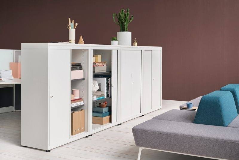 CK8 Sliding door storage cabinets by Herman Miller