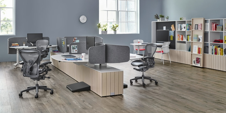 Locale workstation designed by Sam Hecht and Kim Colin, Local workstation by Herman Miller
