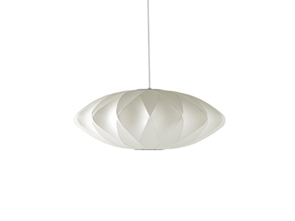 George Nelson Saucer Crisscross Bubble Lamp, Nelson Bubble Pendant by George Nelson.
