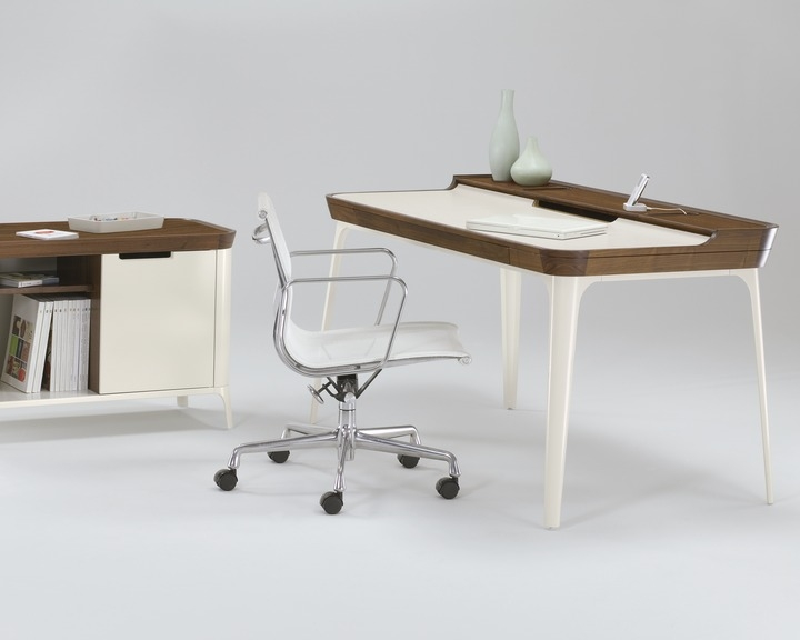 Airia Desk and Media Cabinet, Airia Desk designed by Observatory, Herman Miller Airia Desk