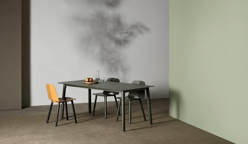 Seam dining table, Tait dining table designed by Adam Cornish, Seam dining table