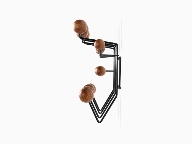 Hang it all coat hanger, Eames coat hanger, Dot coat rack by Eames, Wall hanger Eames