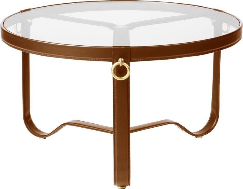 Gubi leather frame coffee table, Adnet coffee table, gubi coffee table designed by JACQUES ADNET