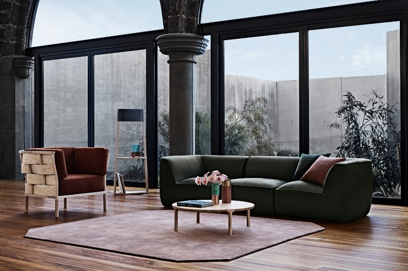 NAU collection, Bower armchair, Sofala lounge, Molly coffee table, Australian Designer NAU