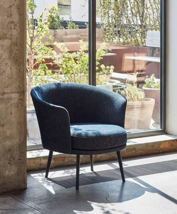 Dorso chair designed by GamFratesi for HAY, HAY Dorso lounge chair, GamFratesi Lounge Chair for HAY