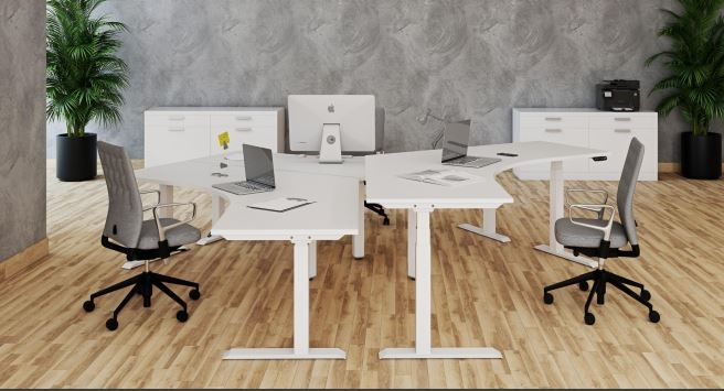 Elevar Vision Electric Adjustable workstation, Elevar adjustable workstation, Sit to stand workstation with electric adjustment