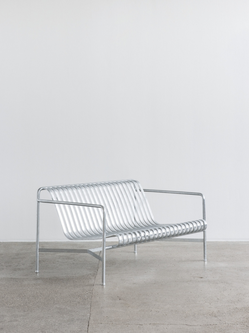 Palissade dining bench designed by Ronan and Erwan Bouroullec for HAY design, Palissade Hot Galvanised collection