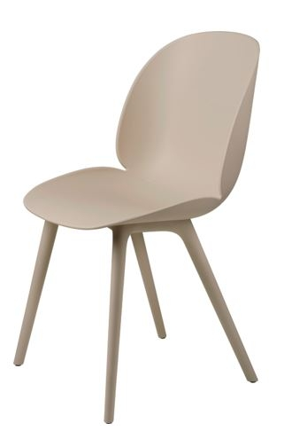Beetle Dining Chair Plastic Edition designed by GamFratesi, Gubi beetle dining chair plastic base