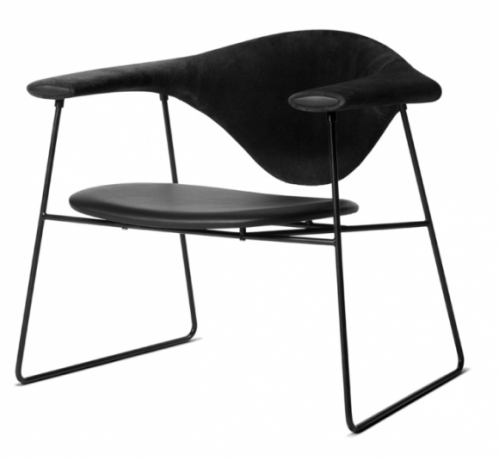 Gubi lounge chair designed by GamFratesi, Masculo chair, Masculo lounge chair