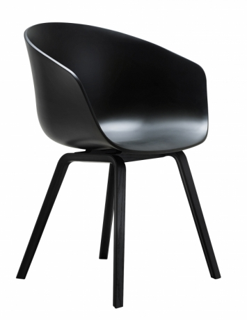 About A Chair in black, AAC22, black stained legs aac22