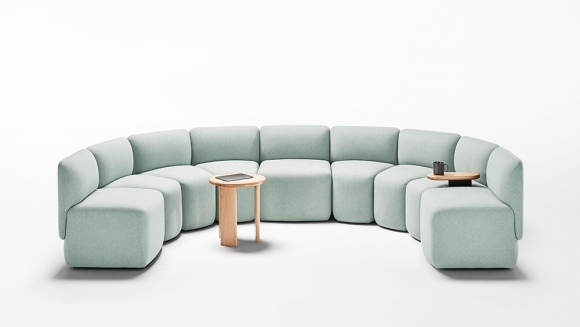 Caterpillar seating designed by Alexander Lotersztain, Derlot Editions Caterpillar