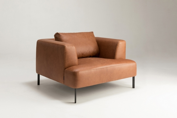 Brydie sofa designed by Ross Didier, Single seater Brydie sofa Didier