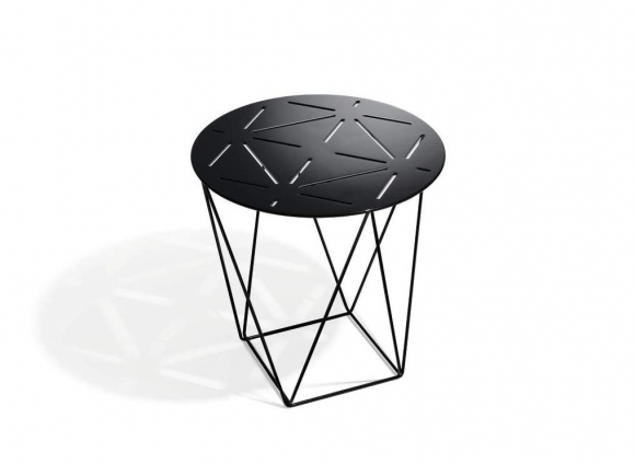 Joco side table designed by EOOS for Walter Knoll, Walter Knoll Aluminium side table, Walter Knoll side table with laser cut details