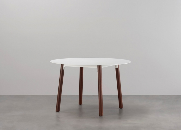 Seam round dining table designed by Adam Cornish for Tait, Tait Seam Dining table round