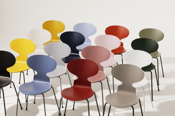 Ant chair designed by Arne Jacobsen, Fritz Hansen Ant chair, Ant chair 4 legs discontinued finish