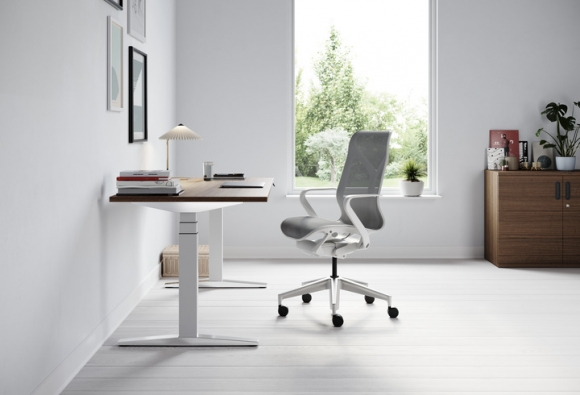 Ratio height adjustable desk by Herman Miller, Herman Miller Ratio desk system, Herman Miller Ration office desk system
