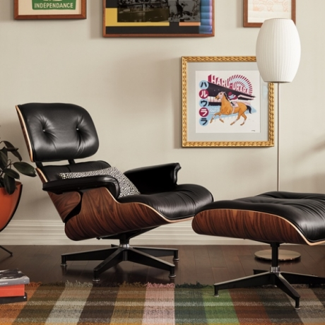 Eames Lounge chair and ottoman designed by Charles and Ray Eames