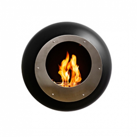 Vellum Cocoon Fire fireplace, Coccon Fire designed by FEDERICO OTERO, Wall mounted fire place by Cocoon Fire