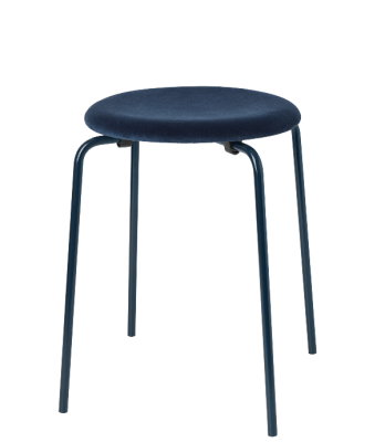 Dot Stool by Fritz Hansen, limited edition velvet upholstered