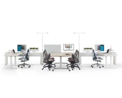 Arras Spine by Herman Miller, Arras desking system by Herman Miller
